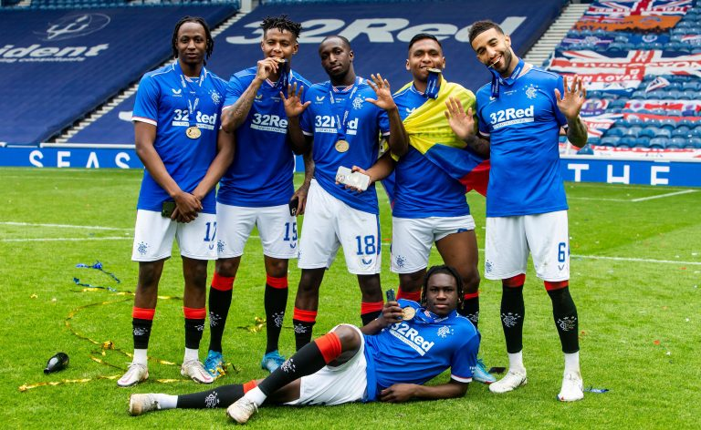 Rangers' black players make big statement