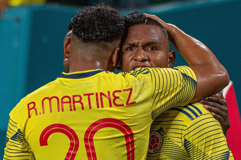 Alfredo Morelos faces these four men for a Colombia shirt